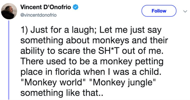 twitter childhood actor social media ridiculous monkey funny - 7907333