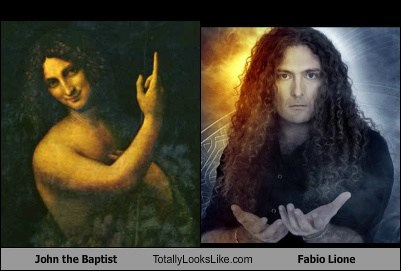 fabio lione,john the baptist,totally looks like