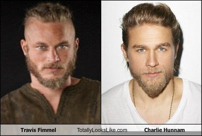 travis fimmel charlie hunnam totally looks like
