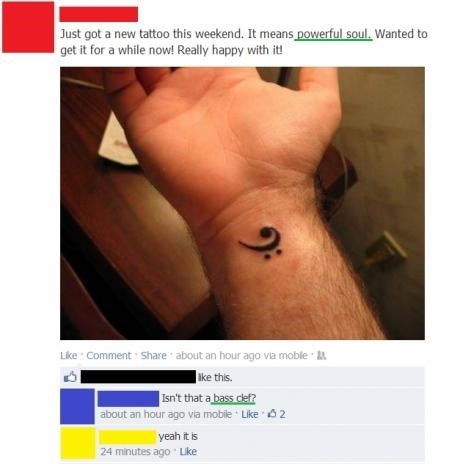 bass bass clef tattoos failbook g rated