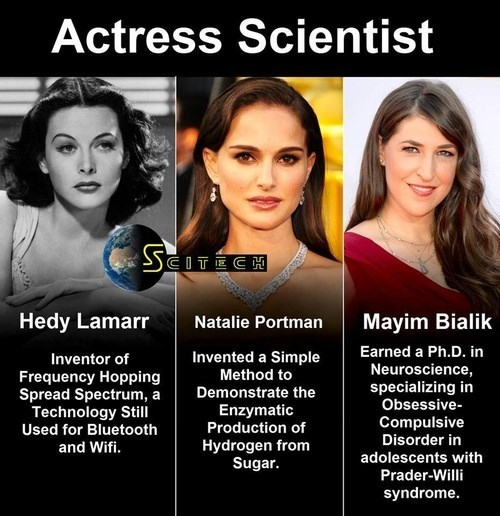 scientist,awesome,actress,funny