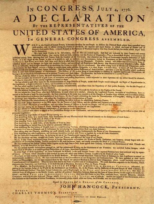 america,declaration of independence