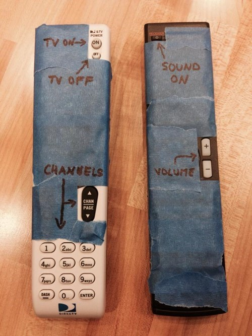 funny,parents,remotes,parent proofing