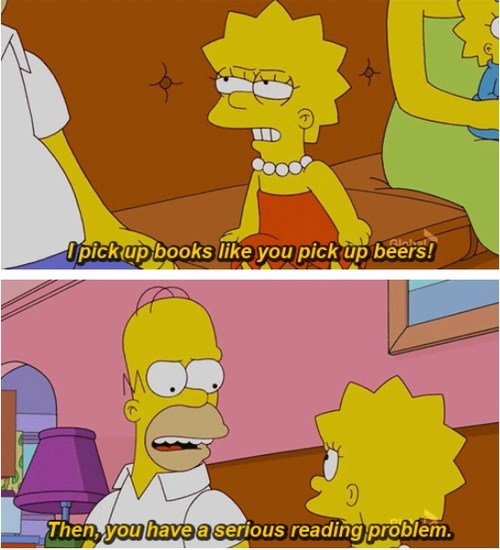 beer addiction books funny simpsons - 7908459008