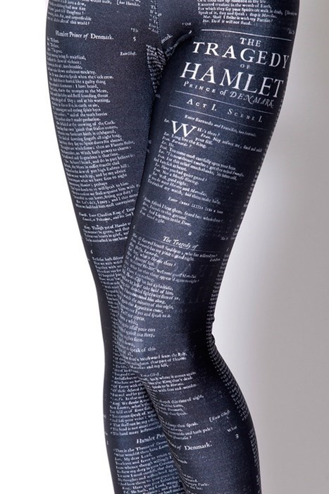 fashion literature leggings shakespeare