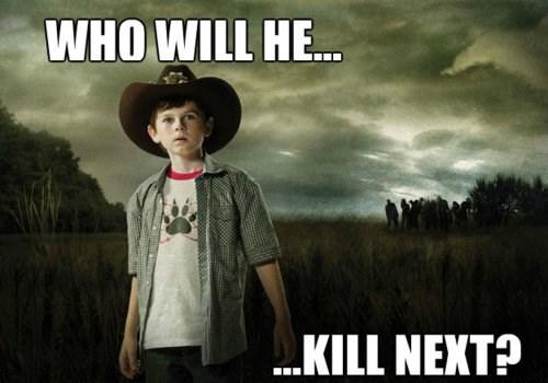 carl grimes,kill,threat,The Walking Dead