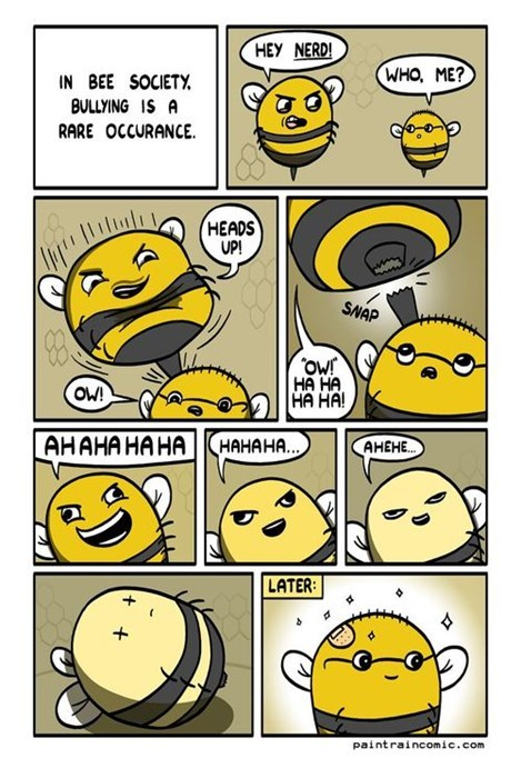 bees,bullies,funny,web comics
