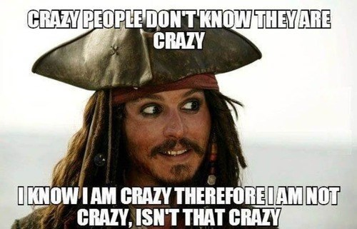 crazy people Johnny Depp Pirates of the Caribbean - 7908521216