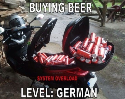 beer german scooter funny - 7908527872