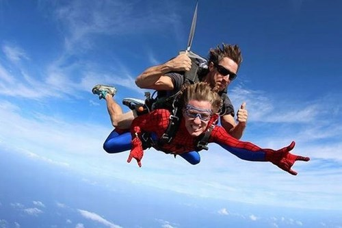 BAMF funny super heroes skydiving - 7908549632