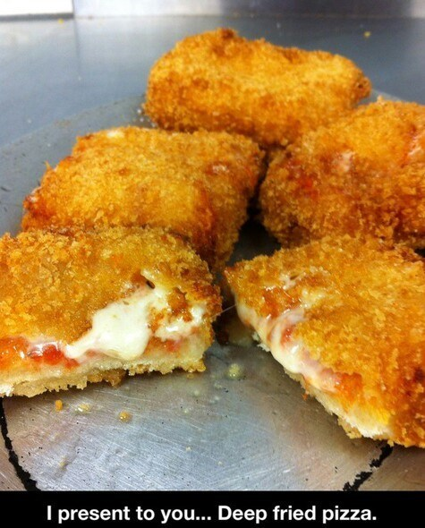 fried food pizza