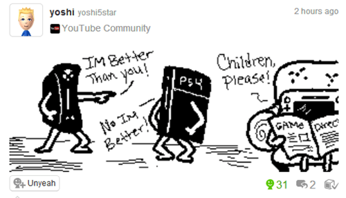 Miiverse,console wars,PlayStation 4,nintendo,xbox one