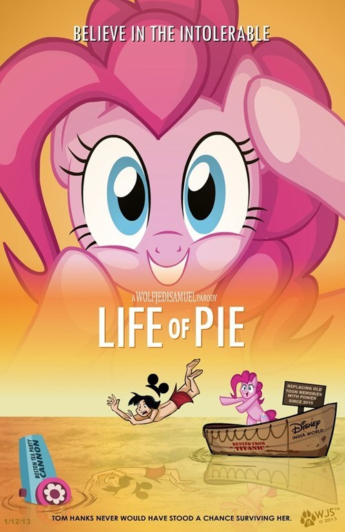 life of pi Fan Art mashup pinkie pie - 7909741568