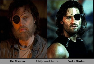 escape from LA totally looks like the governor The Walking Dead snake plissken