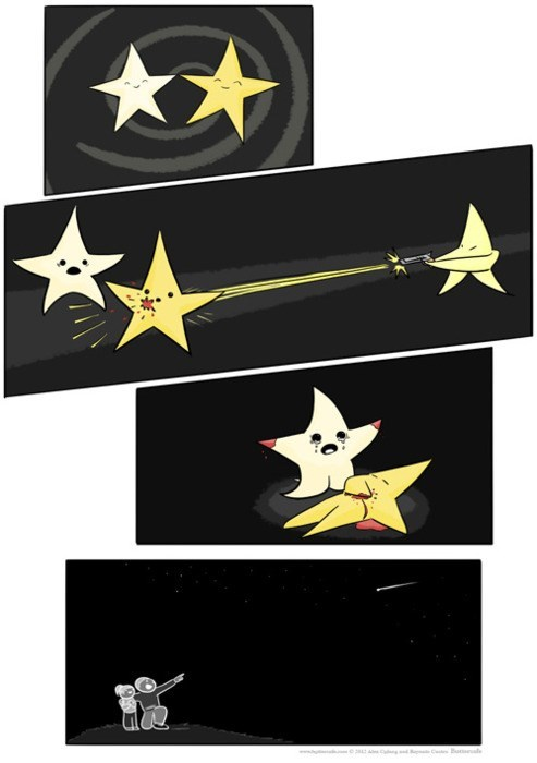 shooting stars puns funny web comics - 7910166528