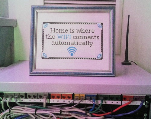 cross stitch funny Knitta Please wi-fi g rated win