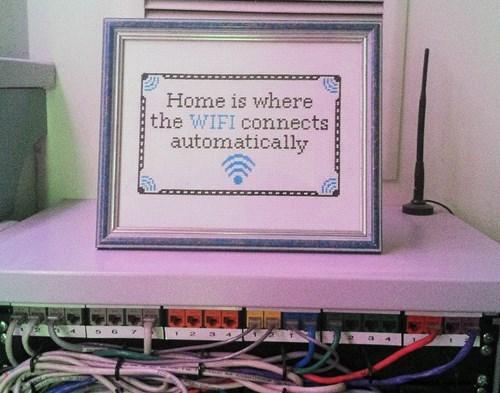cross stitch funny Knitta Please wi-fi g rated win - 7910215168