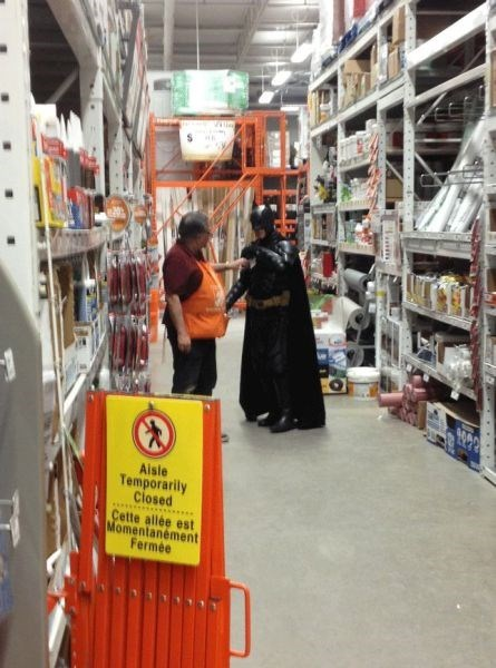 batman,funny,hardware store,home depot