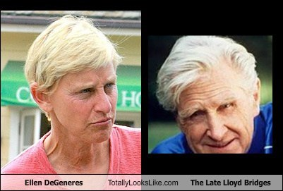 ellen degeneres,funny,totally looks like,lloyd bridges