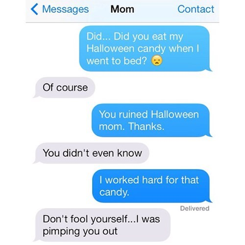 halloween candy moms parenting text - 7912226304