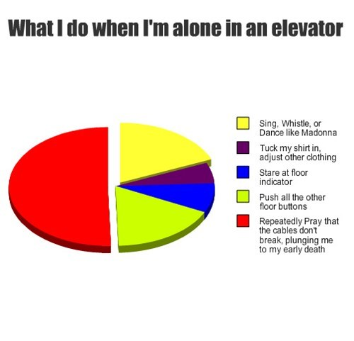 alone,Death,elevator,fear,Pie Chart