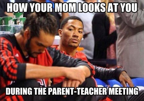 funny,parents,teachers meetings,nasty looks