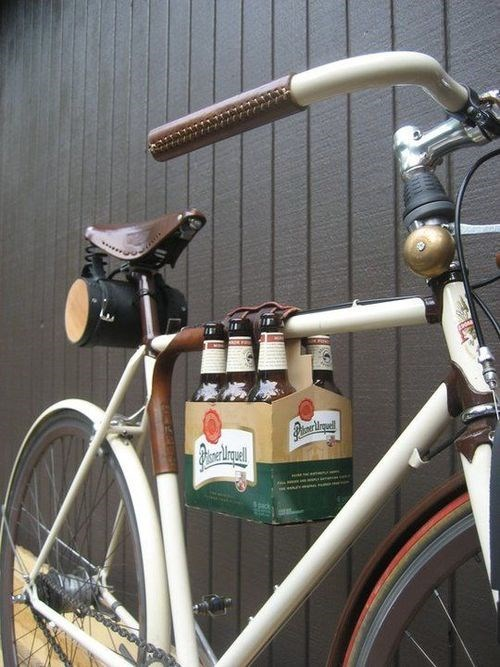 beer,6 pack,bike,transport