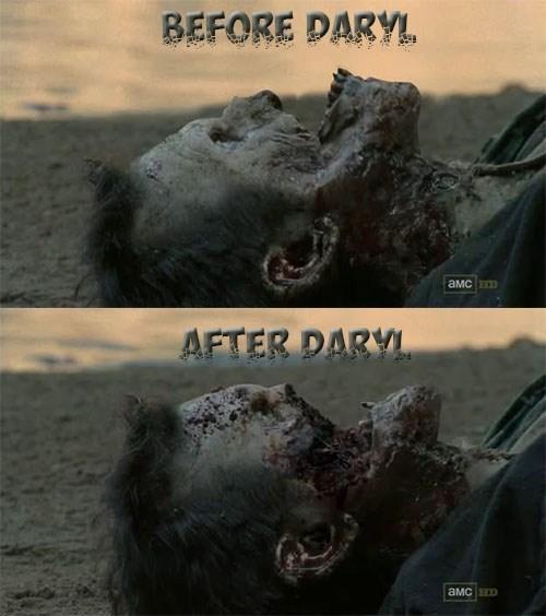 daryl dixon face melt zombie - 7913130752