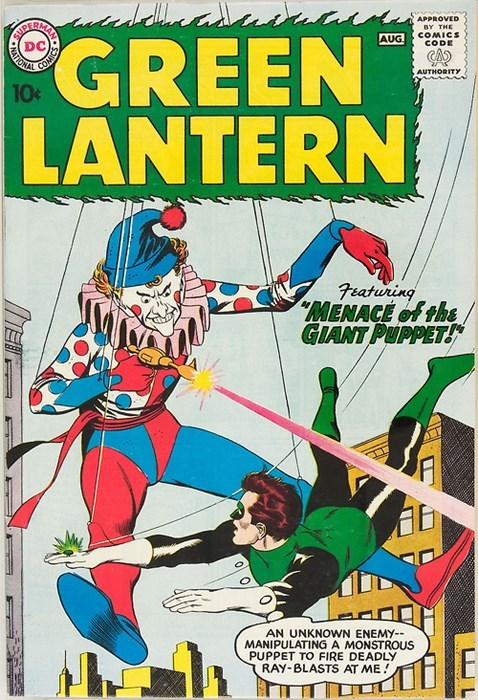 Green lantern off the page giant clown - 7913266688