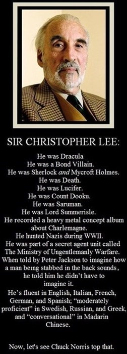 celeb,Christopher Lee