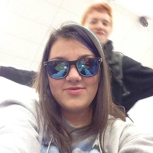 reflection photobomb selfie - 7913480960