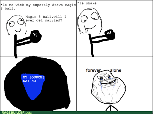 8 ball forever alone MAGIC 8-BALL - 7913490688