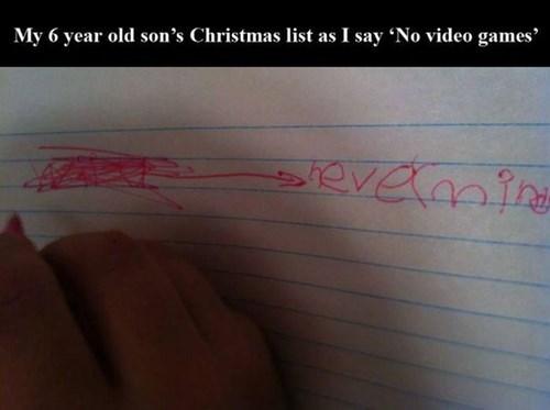 christmas funny video games wish list - 7913533184