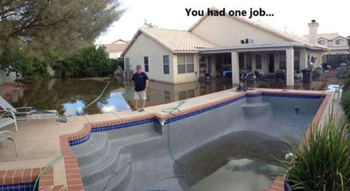 flooding,funny,whoops,pool,you had one job,g rated,fail nation
