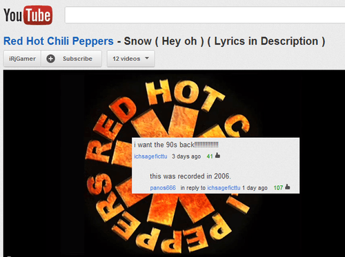 90s red hot chili peppers youtube snow hey oh - 7913573376
