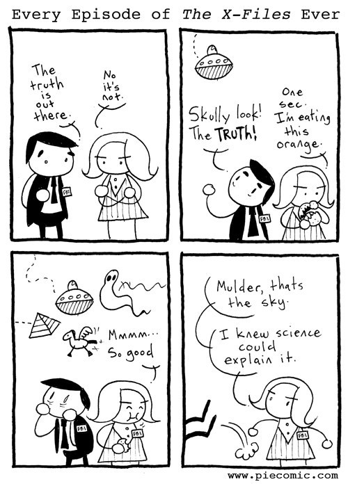 Aliens,funny,x files,web comics