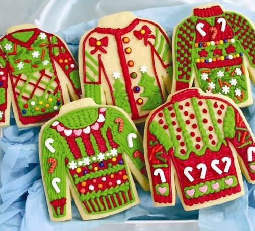 cookies food christmas sweater poorly dressed g rated - 7913765376