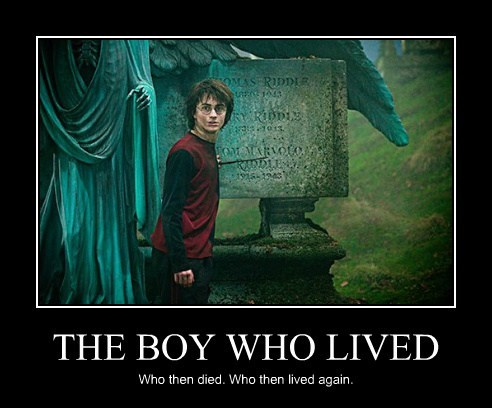 THE BOY WHO LIVED Who then died. Who then lived again.