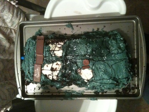 cake,doctor who,FAIL,tardis,it's the thought that counts