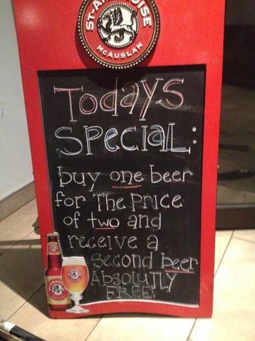 beer alcohol deals restaurant signs - 7915303936