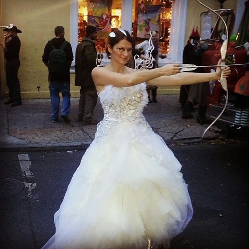 Katniss wedding dress cosplay