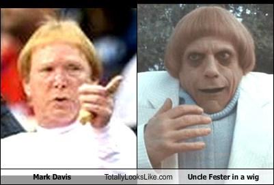 hair uncle fester totally looks like mark davis funny - 7915568896
