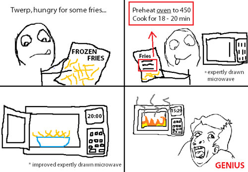 fries microwave time