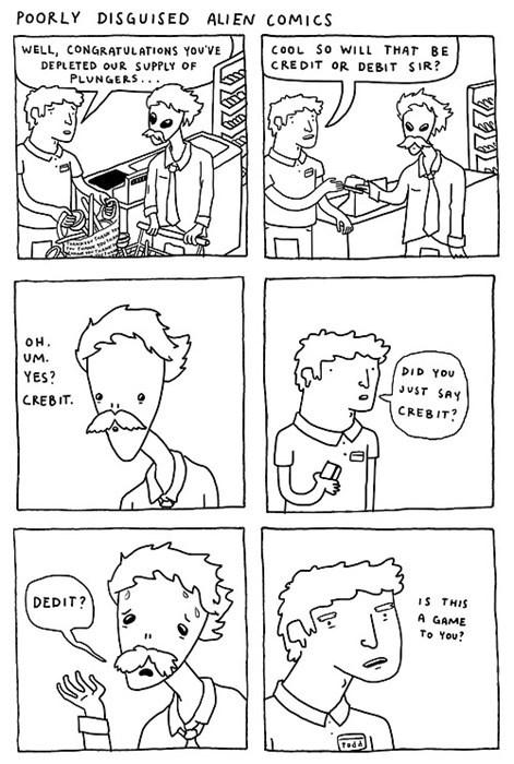 Aliens,funny,money,web comics