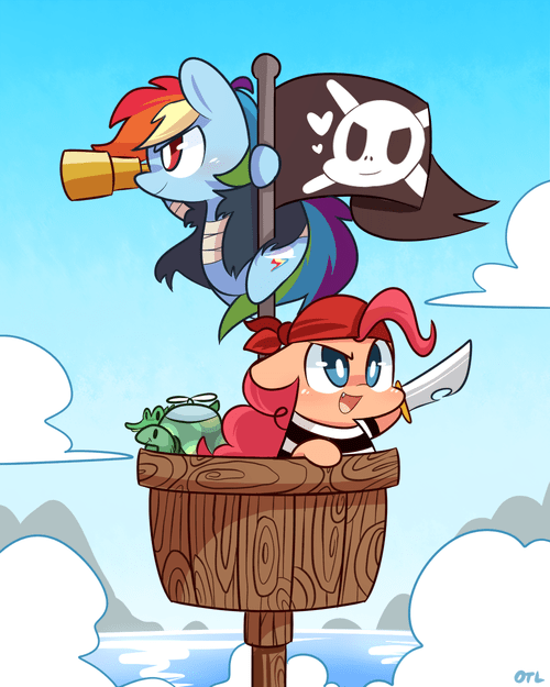 Fan Art,pirates,squee,rainbow dash