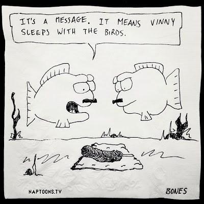 fishes birds mafia funny web comics - 7916611072