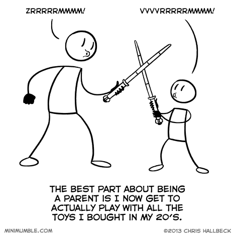 toys lightsabers parenting funny web comics - 7916625408