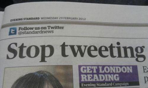 twitter stop tweeting standard news - 7916640256