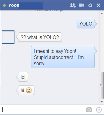 chat autocorrect facebook yolo - 7916815616