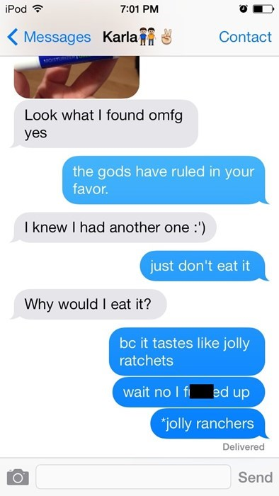 autocorrect,jolly ranchers,text